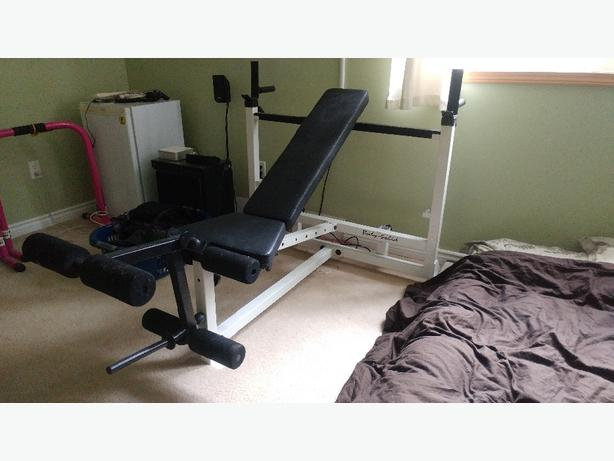 Body Solid upright/flat weight bench 200$ OBO or trade