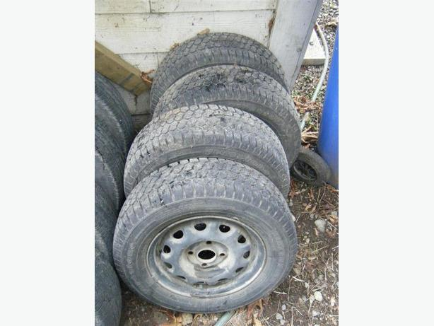set of 4 winter tires on wheels