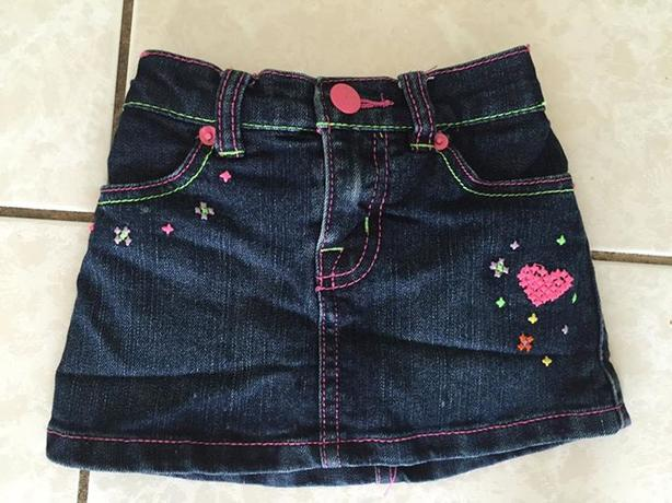 Worn once size 2 Children's Place Jeans Skirt with sewn in shorts