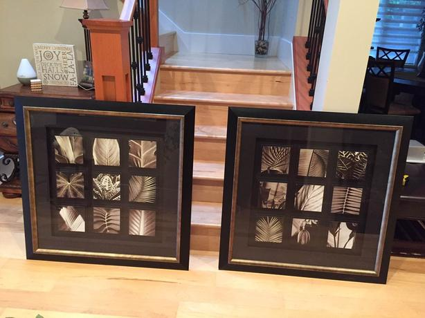 PICTURES (2) – leaf prints - $75. each