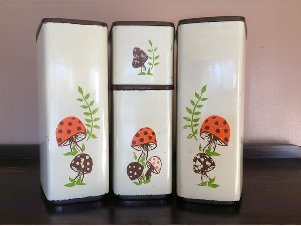 mushroom canister set by GSW