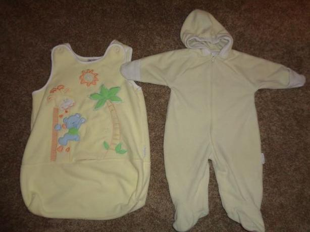 Fleece Baby Outdoor Bunting Suit & Sack - Boy or Girl - s. 0-6 month