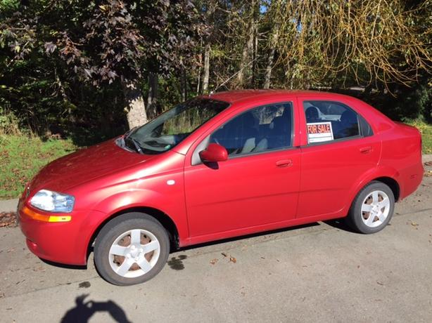 2005 Chevrolet Aveo with low kilometres
