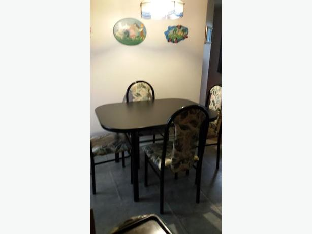table and 4 high back chair set