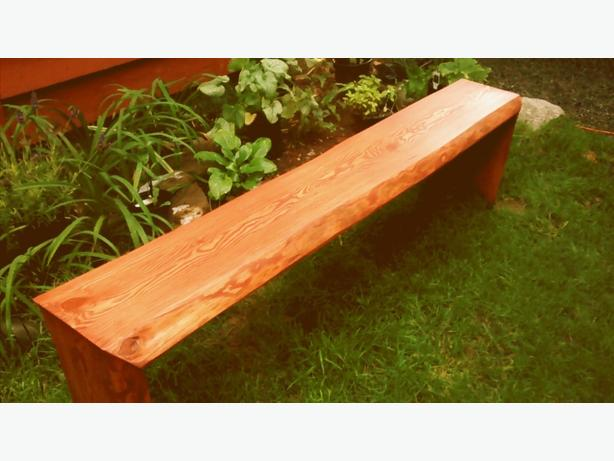 live edge fir bench