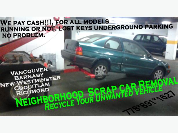 Scrap Car Removal New Westminster