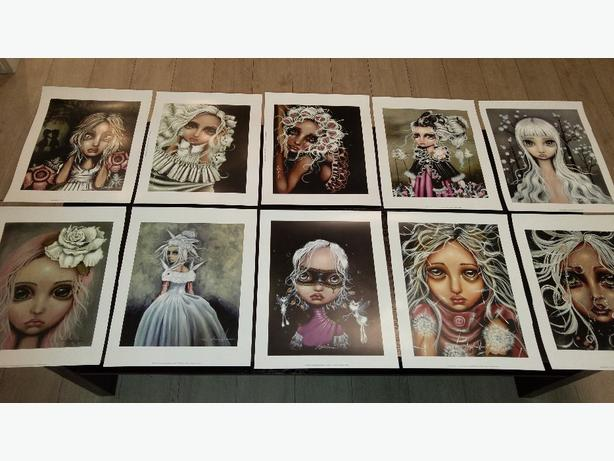 BIG EYED GIRL ART! Original prints by Angelina Wrona On Sale!