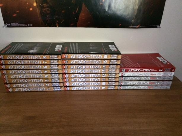 """Attack on Titan"" manga collection"