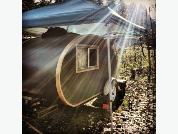 One of a kind custom built teardrop trailer / camper