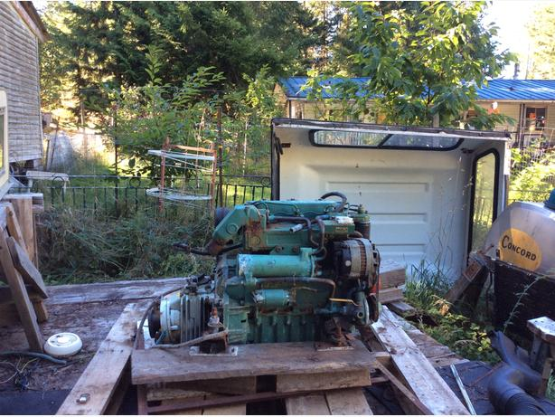 Volvo inboard boat engine