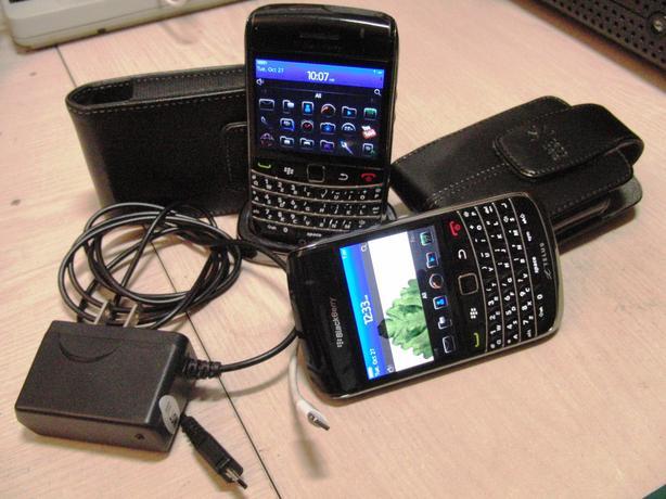 Two Blackberry BOLDs