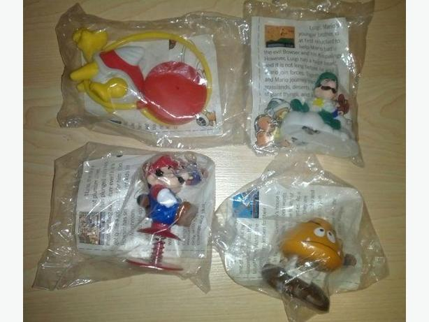 Complete Set 1989 McDonald's Mario 3 Toys - Never Opened