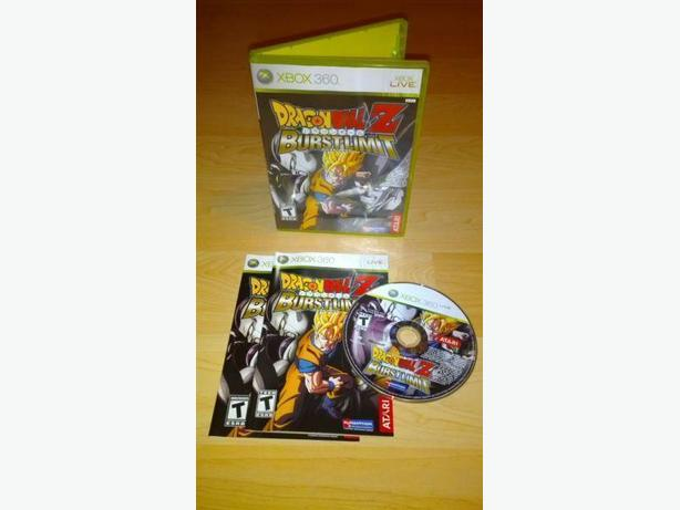 Dragon Ball Z Burst Limit For The Xbox 360 - Like New Condition