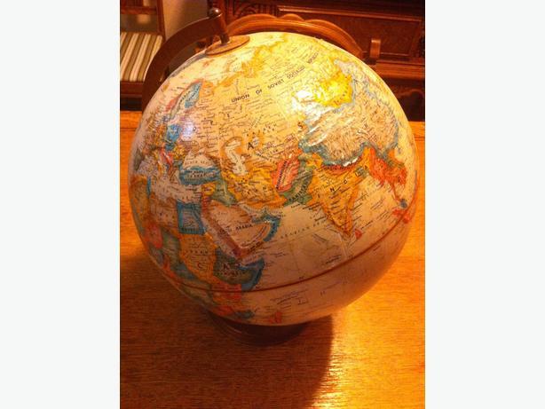 Vintage Relief Globe