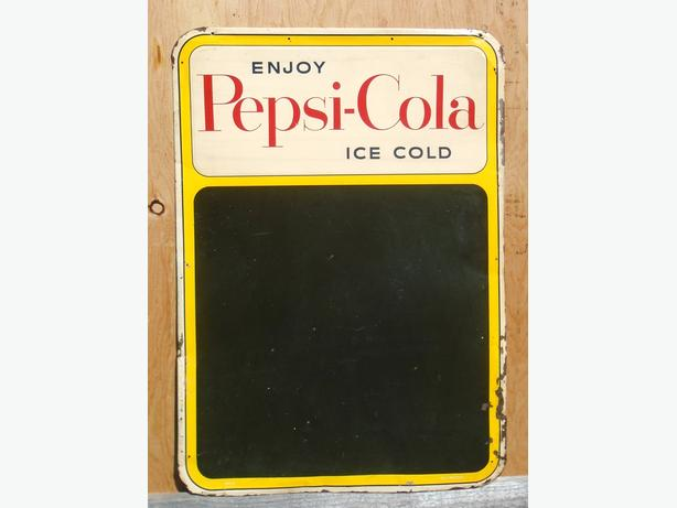 RARE 1955 Enjoy PEPSI-COLA Ice Cold 27 x 19 Inch SST Menu Sign