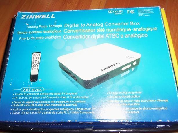 ZINWELL DIGITAL-ANALOG CONVERTER BOX ZAT-970A