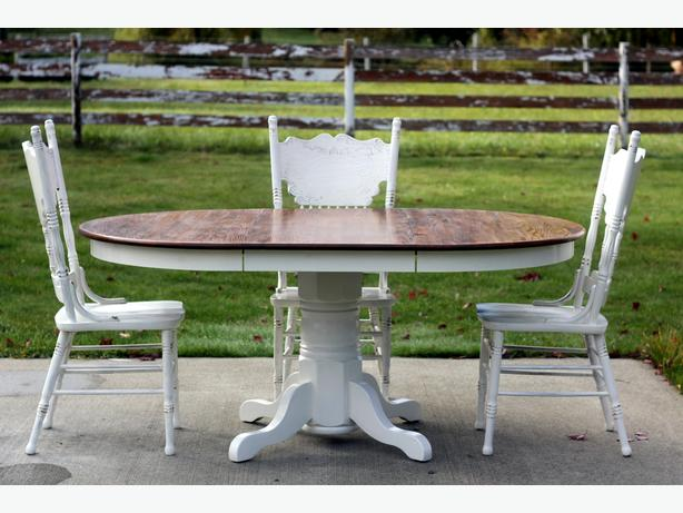 Solid Farmhouse style table and chair set