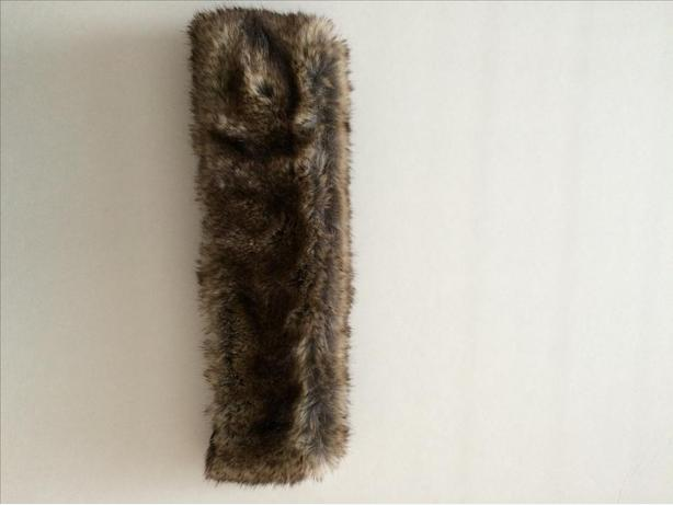 Brown fake fur winter headband