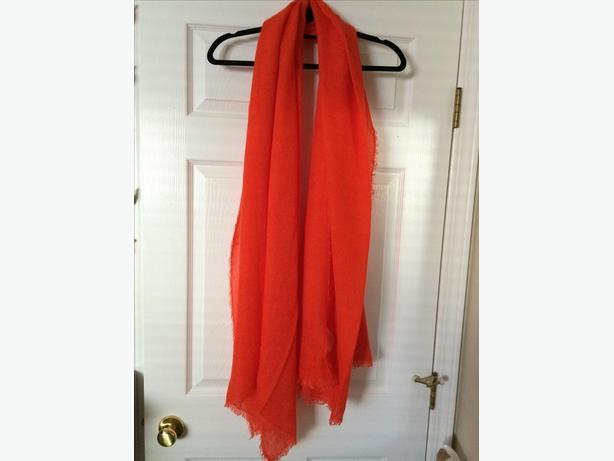 Bright orange scarf