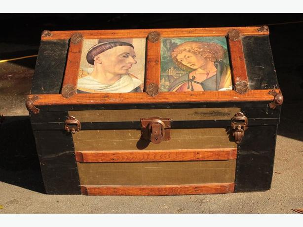 Old authentic steamer trunk