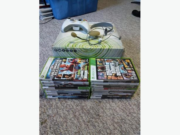 FOR TRADE: Xbox 360 with 24 Games!  For a Nintendo 3DS & some games