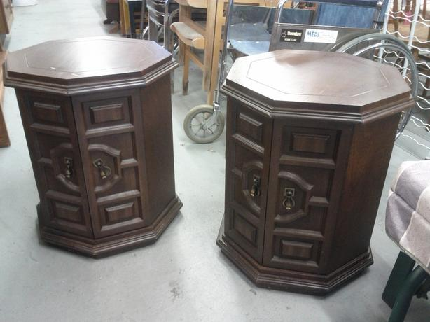 Pair of Octagon End Table