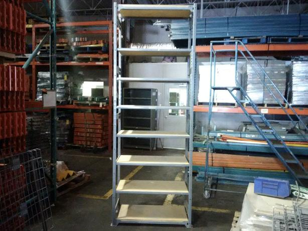 "Industrial Shelving Blow Out! $100 per section! 18"" x 36""x 9'"