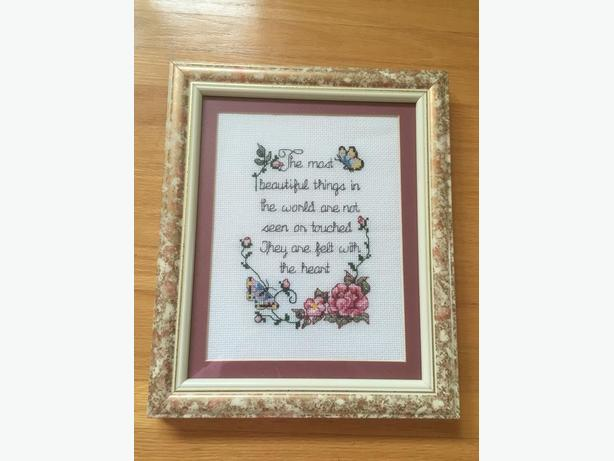Inspirational Cross Stitch Picture