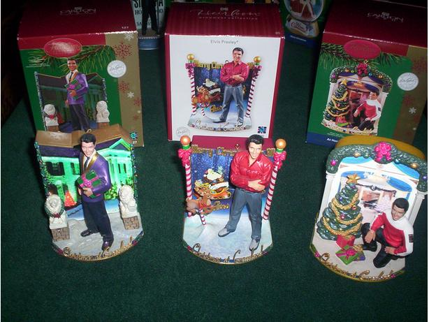 Elvis Presely Christmas Tree Musical Ornaments