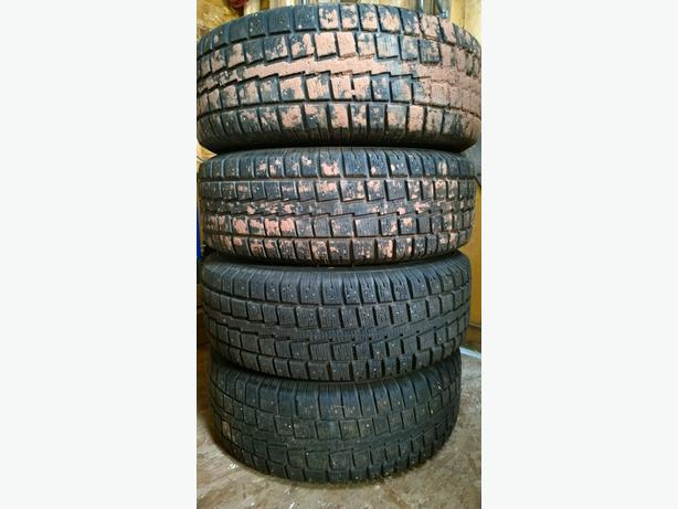 4 x 235/70/16 Cooper Studded Winter tires on rims