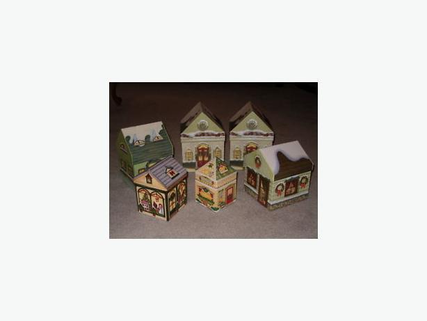 Christmas boxes , noel house shaped , storage box ,
