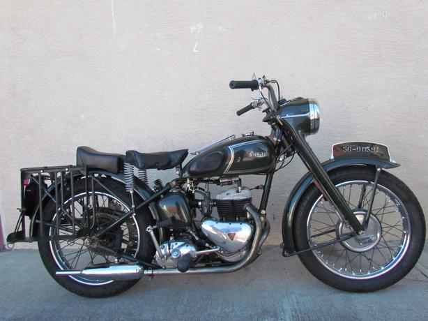 Motorcycle For Sale 1956 Triumph TRW Military 500cc Motorcycle. $10900