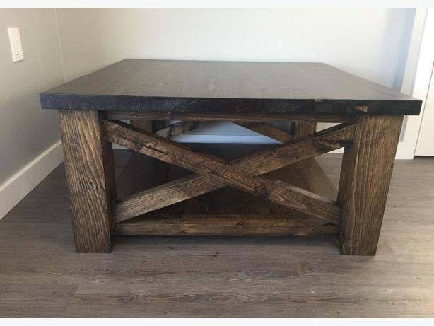 Rustic X-Frame Coffee Table