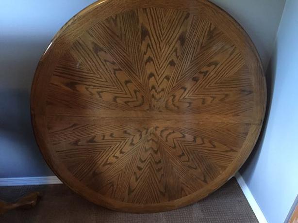 old solid oak dining room set