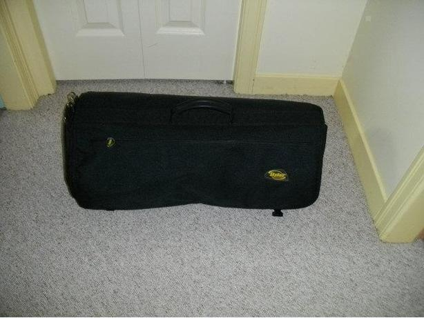 SKYROLL is a carry-on roll up garment bag