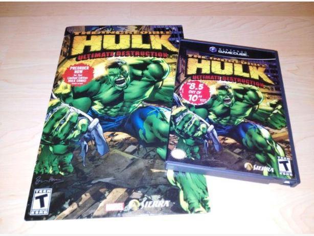 Incredible Hulk Ultimate Destruction w Preorder Comic Gamecube