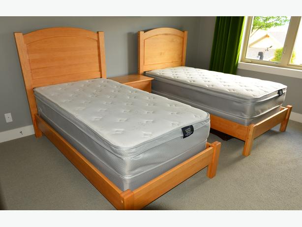 Matching Single Beds - Solid Maple