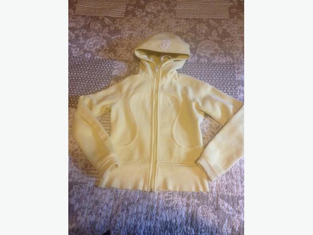 Lululemon scuba hoodie, yellow size 4