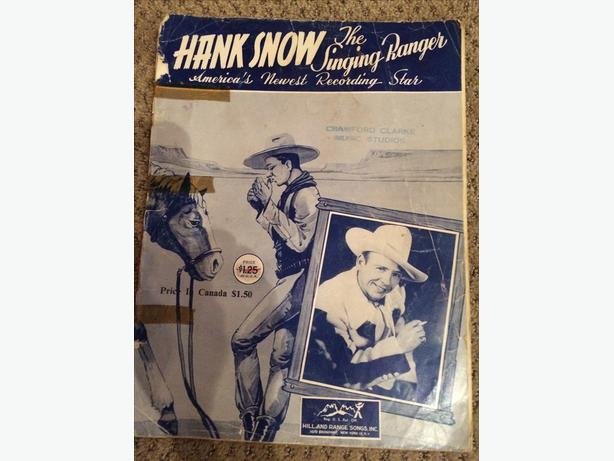 Vintage 1953 Hank Snow Music/Song Book