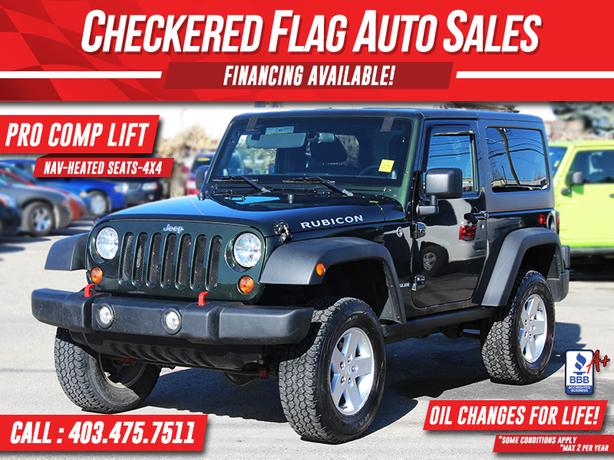 2011 Jeep Wrangler RUBICON-LIFTED-6SPEED-NAVIGATION-HEATED SEATS