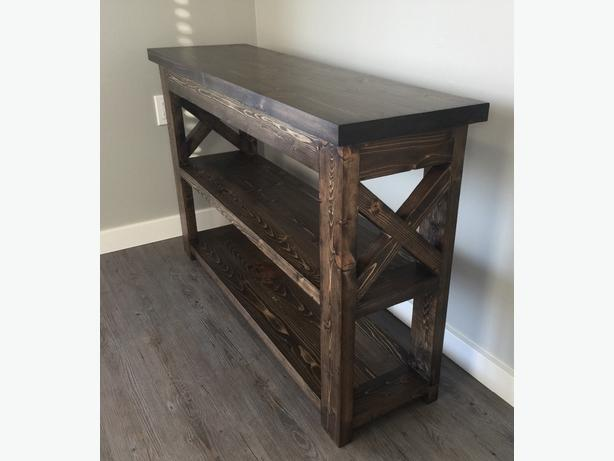 Rustic X-Frame Sofa/Entry Table