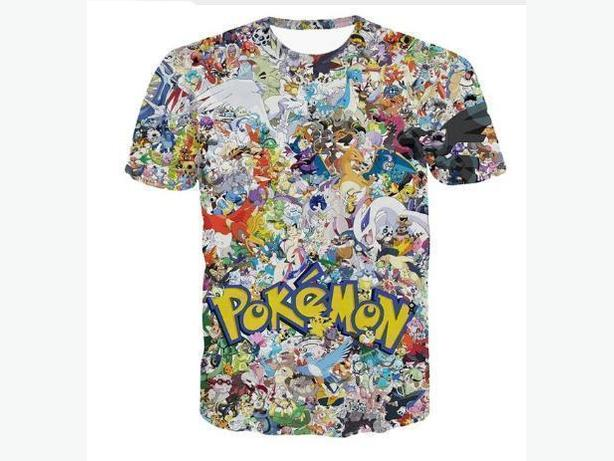 3 Brand New Pokemon Go Collage T-Shirts Size M Adult - $14