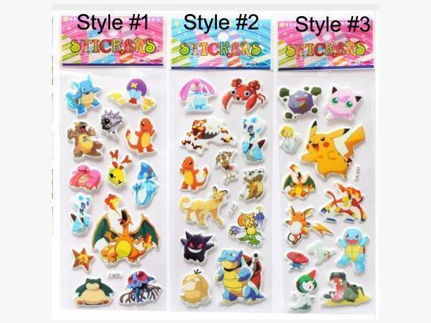 Brand New Pokemon Puffy Stickers - $1 per sheet