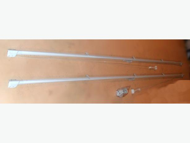 2 Good Condition 66-120 in. (6.5-10 ft.) Long Drapery Rods
