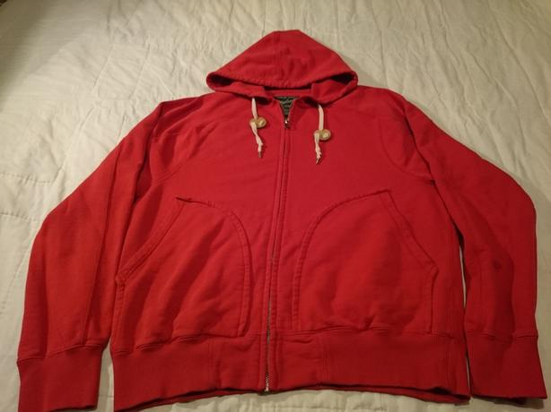 WOOLRICH HOODIE *Adult Medium* FULL-ZIPPER Pockets 100% COTTON*Rare Item*UNISEX!