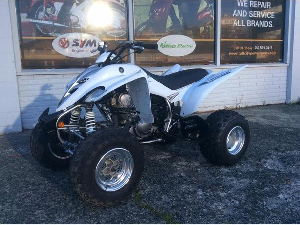2006 Yamaha Raptor 350R ATV, 2wd + reverse, heated grips, like new