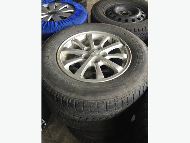 215/70/16 winter tires on Mitsubushi rims