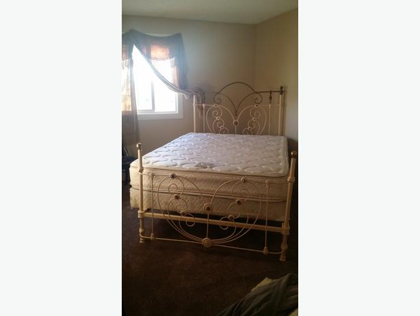 HEARTSHAPE ROMANTIC 1800's ANTIQUE BRASS & IRON 4POSTER BED