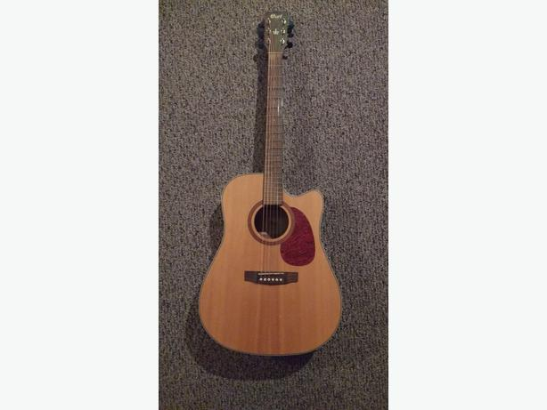 acoustic electric cort guitar with built in tuner victoria city victoria. Black Bedroom Furniture Sets. Home Design Ideas