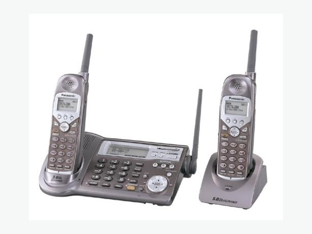 Quality Panasonic cordless phone with digital answering machine.  2 handsets